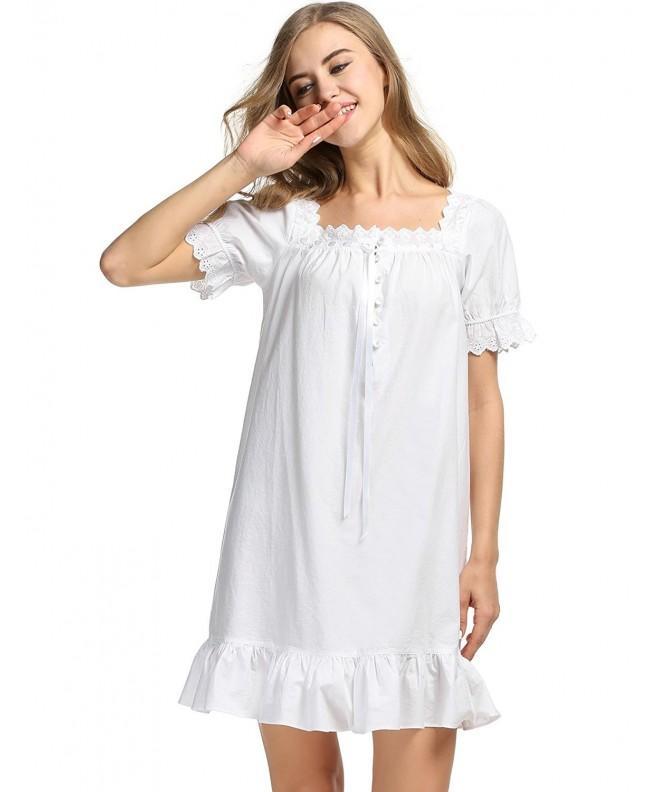 Avidlove Victorian Vintage Nightgown Sleepwear