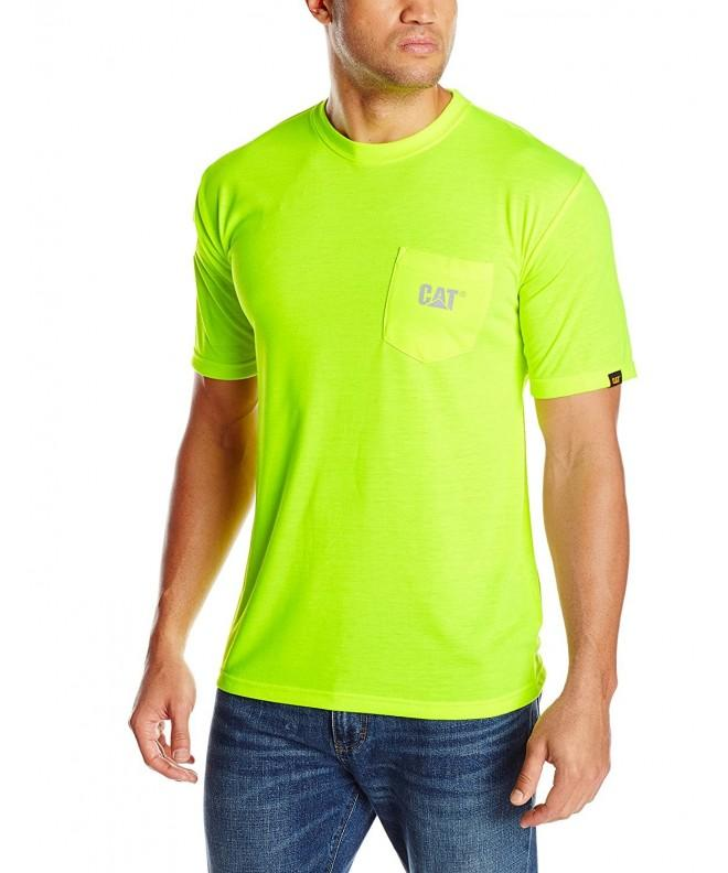 Caterpillar Hi Vis Trademark Pocket T Shirt