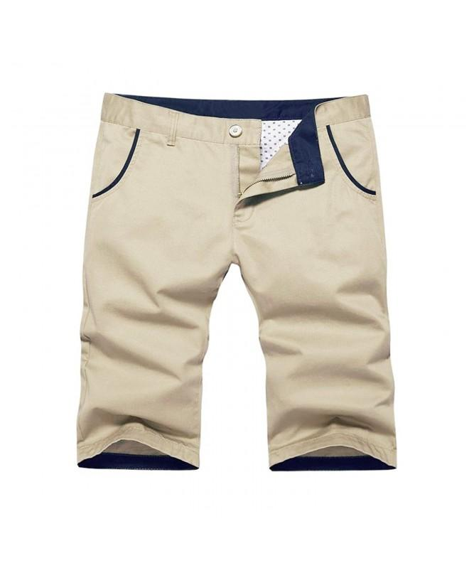 Mens Classic Front Short Khaki