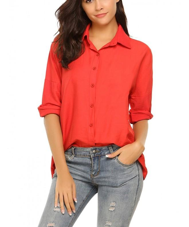 Zeagoo Womens Button Casual Blouse