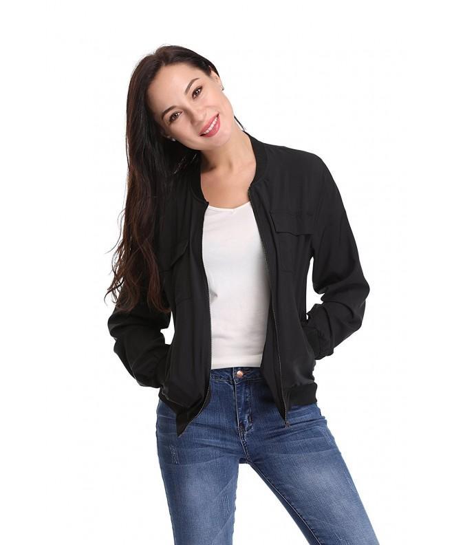 Argstar Womens Collar Multi Pocket Lightweight