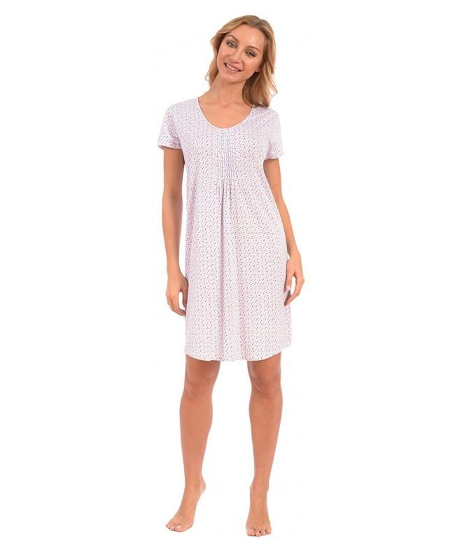 Patricia Womens Pleated Cap Sleeve Nightgown