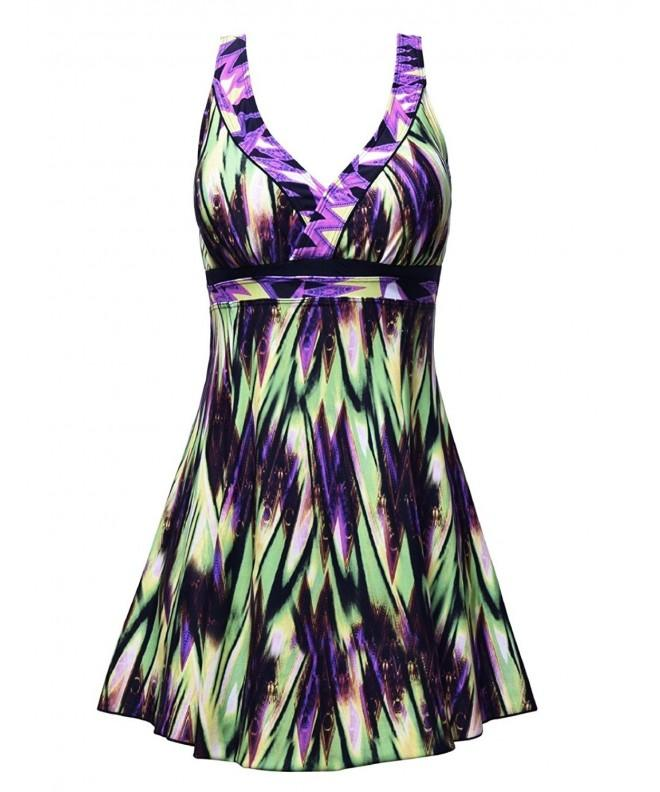 Septangle Womens Swimdress Swimsuit 10