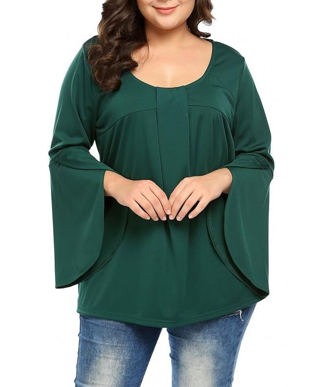INVOLAND Women Sleeve Shirts Pleated
