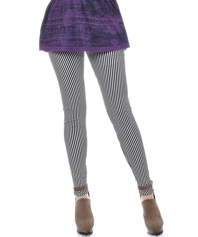 Anna Kaci Striped Length Leggings Tights