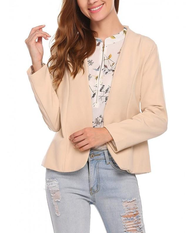Dicesnow Casual Blazers Jackets Apricot
