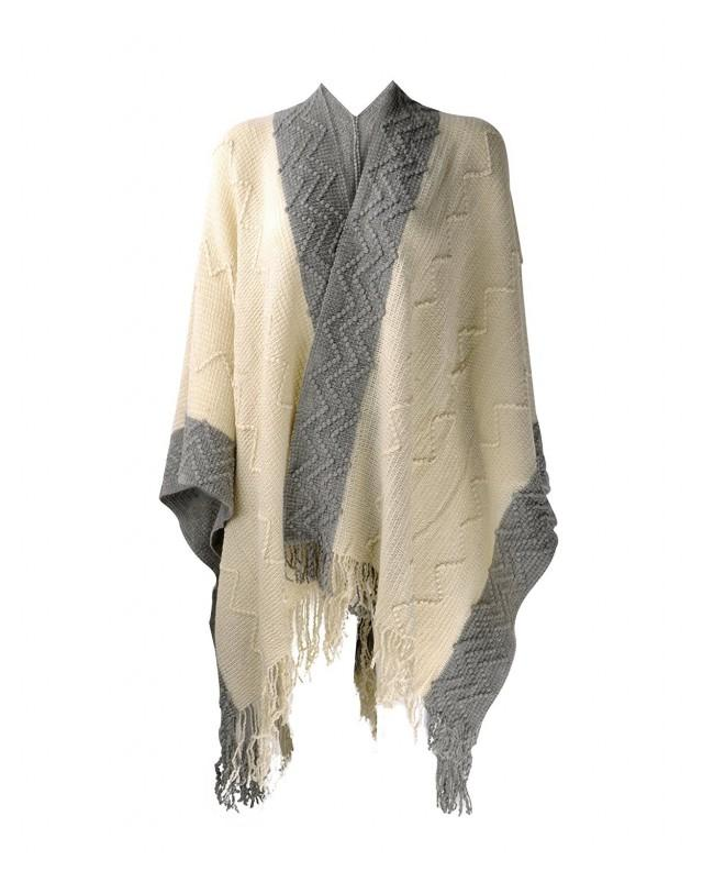 ZLYC Textured Blanket Cardigan Contrast