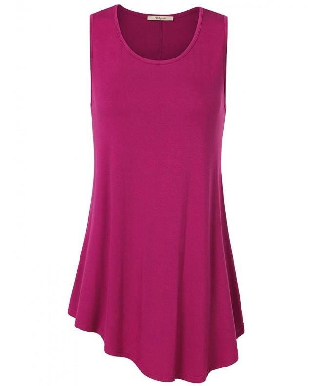 Bebonnie Sleeveless Women Irregular Magenta