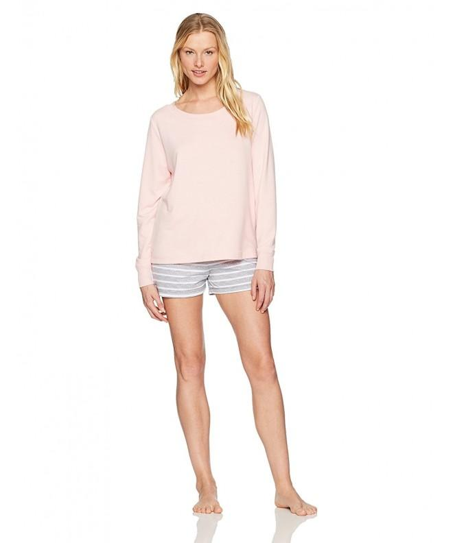 Mae Womens Sweatshirt Shorty Blush