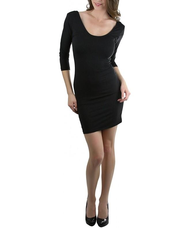 ToBeInStyle Womens Sleeve Bodycon Mini Dress