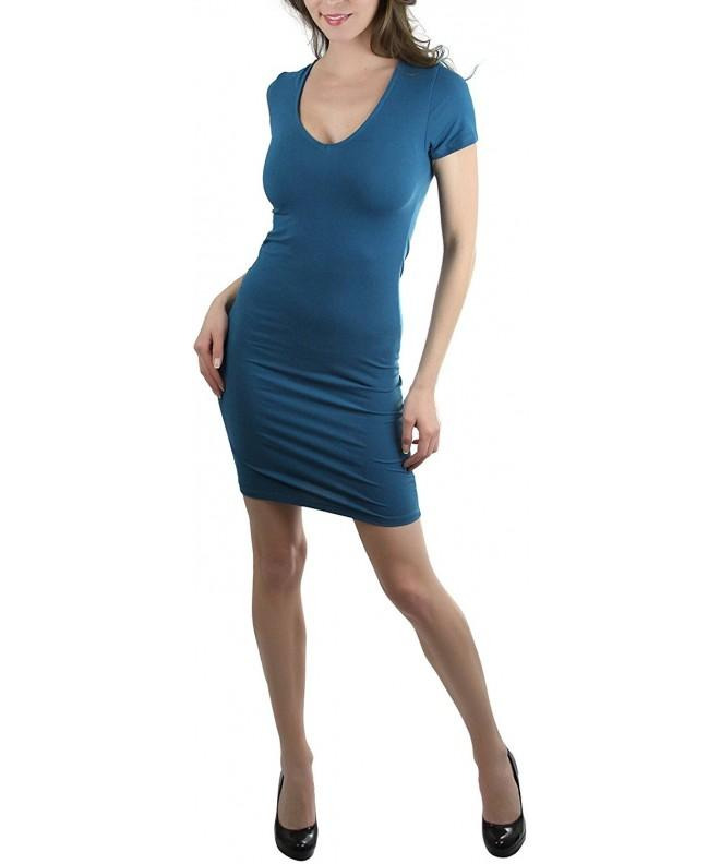 ToBeInStyle Womens Sleeve V Neck Mini Dress