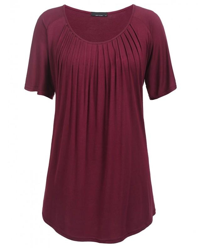 Mofavor Womens Casual Pleated Babydoll
