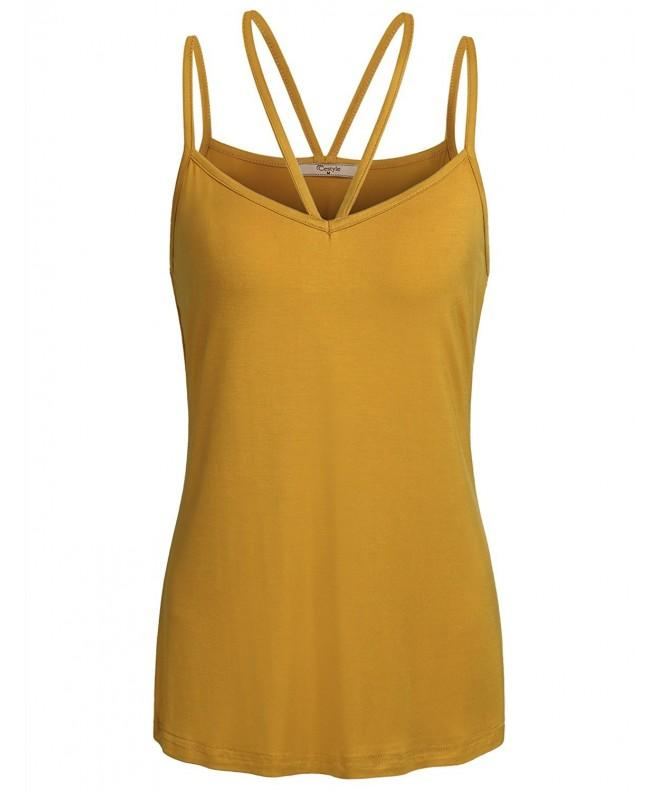 Cestyle Spaghetti Sleeveless Undershirts Relaxed