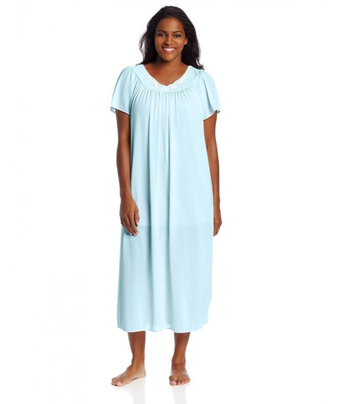 Miss Elaine Womens Plus Size Nightgown