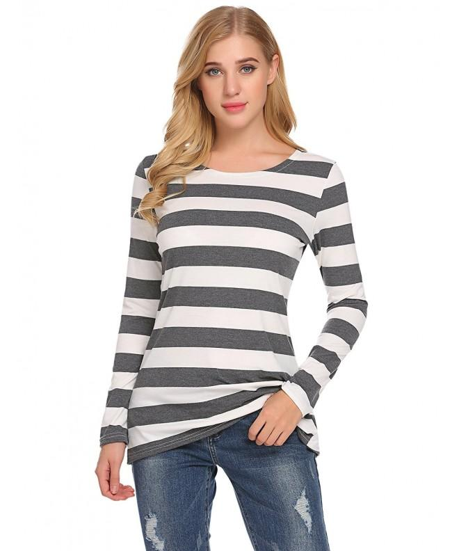 Womens Sleeve Shirts Striped Blouses