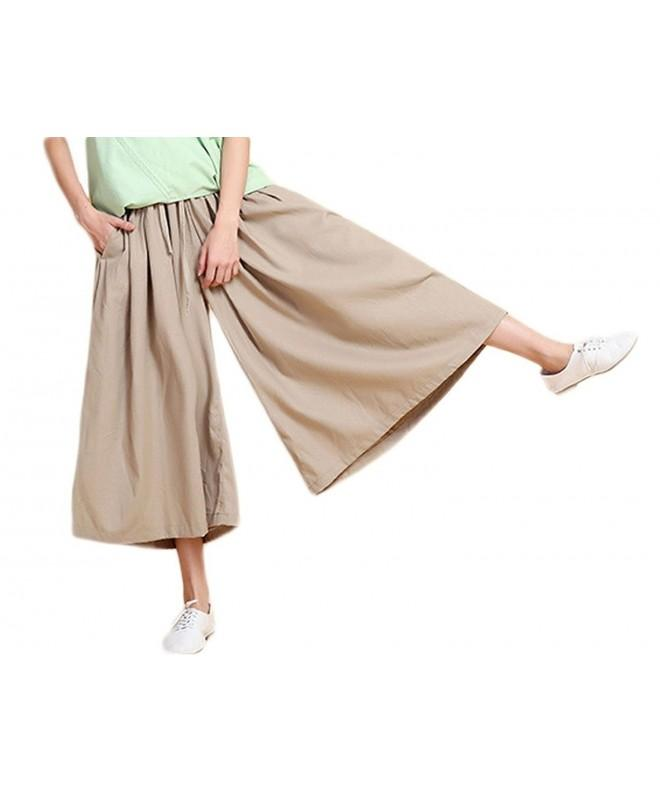 Soojun Womens Cotton Cropped Palazzo