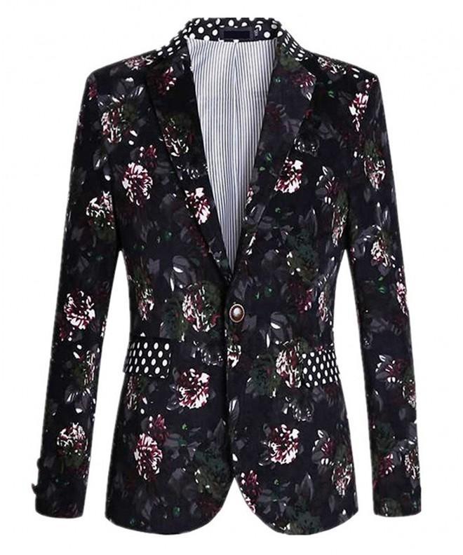Black Floral Polka Casual Blazer