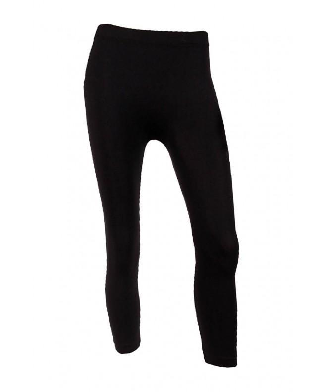 Sofra Womens Capri Length Leggings Black