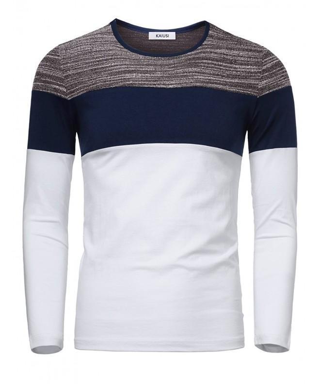 KAIUSI Casual T Shirt Contrast X Large