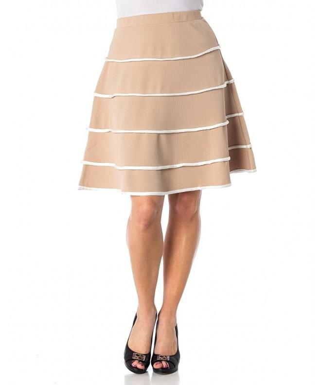 Womens Line Layered Striped Skirt