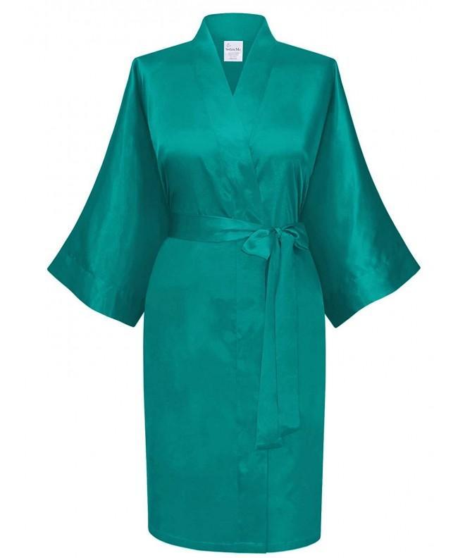 Swhiteme Womens Kimono Robe Short