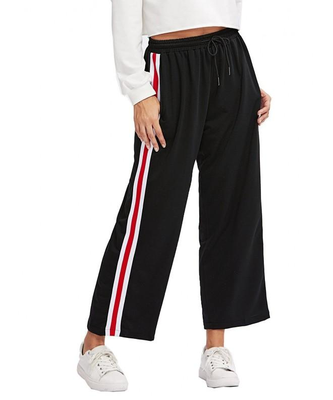 SweatyRocks Womens Striped Cropped Velvet