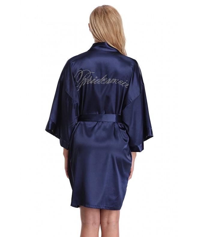 KimonoArt Rhinestone Kimono Bridesmaid Blue