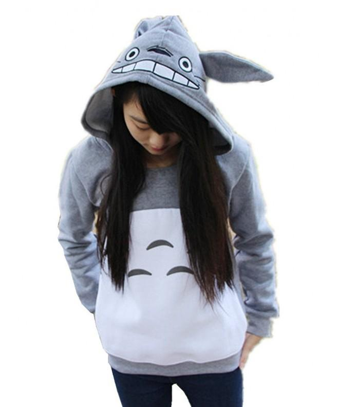 Sorrica Cartoon Totoro Casual Sweatshirt