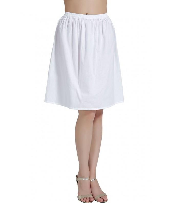 BEAUTELICATE Womens Cotton Vintage Underskirt