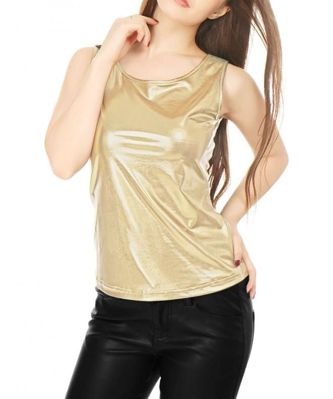 Allegra Womens Sleeveless Fashion Metallic