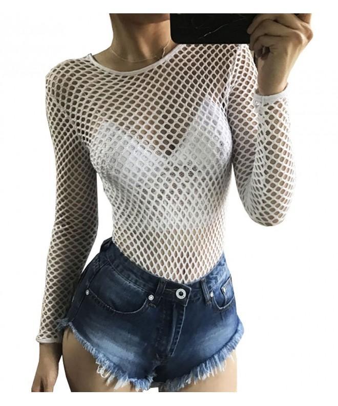 Ebetterr Fishnet Through Bodysuit Clubwear
