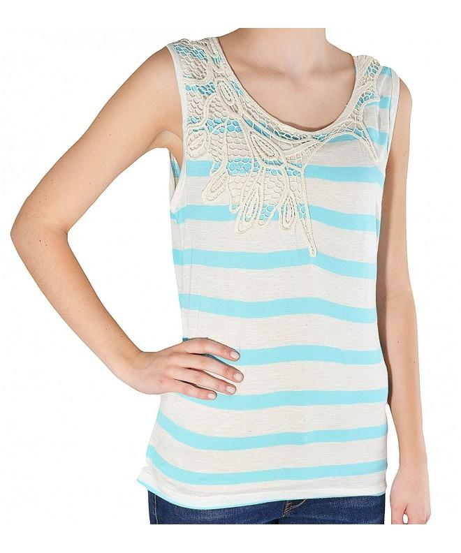 Po Pori Womens Striped Sleeveless