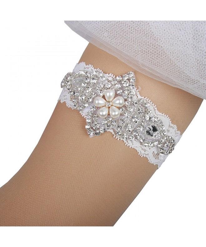 Mirandas Bridal Crystal Rhinestone Garters
