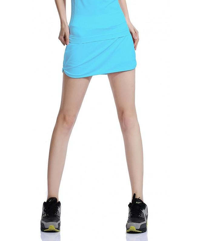Womens Flat Tennis Skorts Blue
