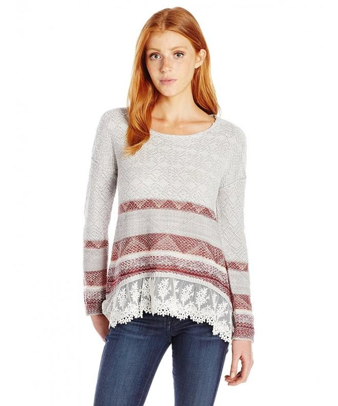 Jolt Womens Hi Low Sleeve Sweater