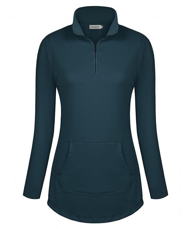 Ninedaily Womens Sleeve Kangaroo Sweatshirts