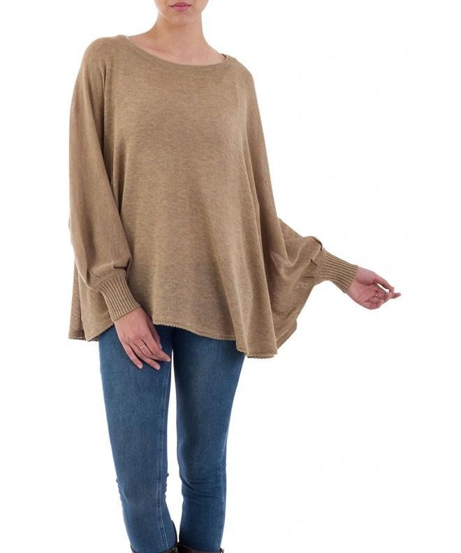 NOVICA Cotton Bohemian Sweater Coastal