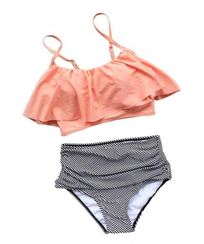 Cupshe Fashion Falbala High waisted Bikini