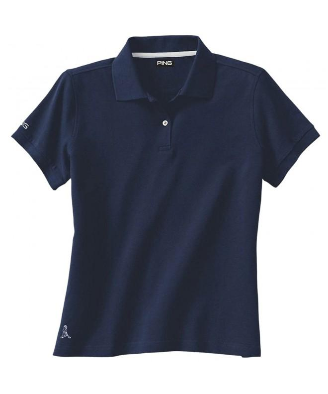 Ping Womens Solid Pique Golf