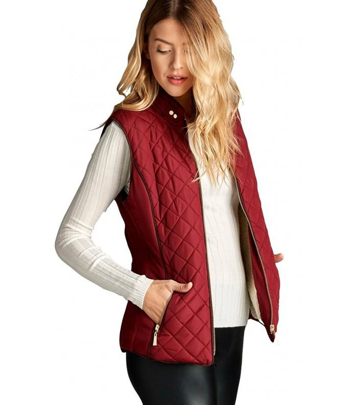 ShezPretty Lightweight Quilted Pockets Burgundy