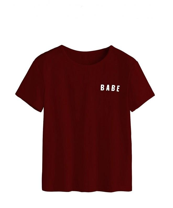 MakeMeChic Womens Letter T shirt Casual