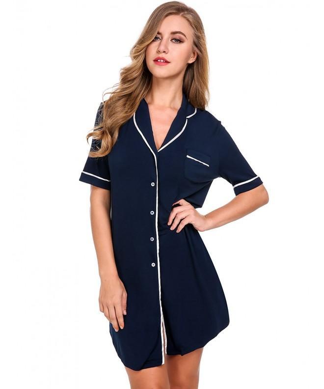 Avidlove Pajamas Boyfriend Sleepshirt Sleepwear