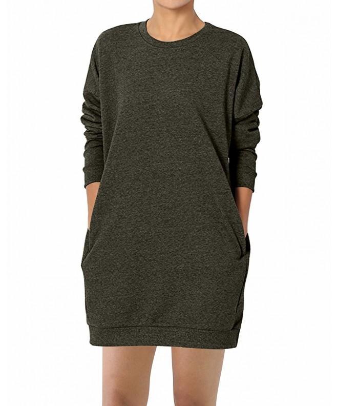 GIKING Pockets Pullover Sweatshirts Armygreen