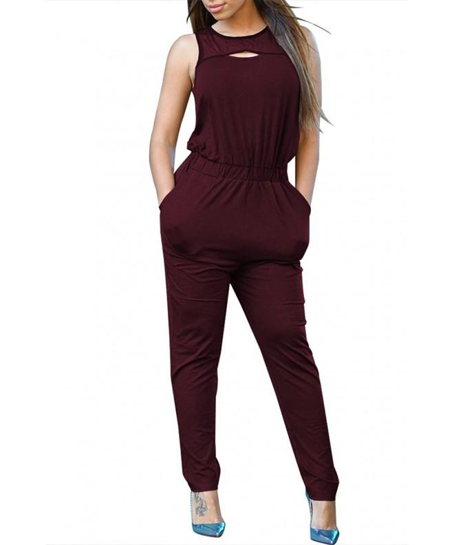 Pink Queen Sleeveless Lounging Jumpsuit