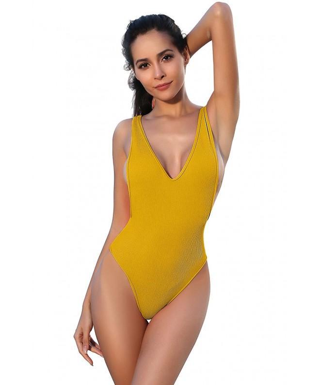 SHEKINI Swimsuits Backless Monokini Swimwear
