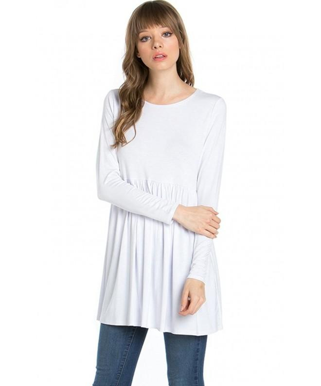 2LUV Womens Solid Sleeve Tunic