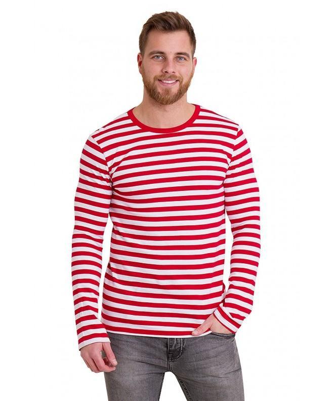 Retro White Striped Sleeve Shirt