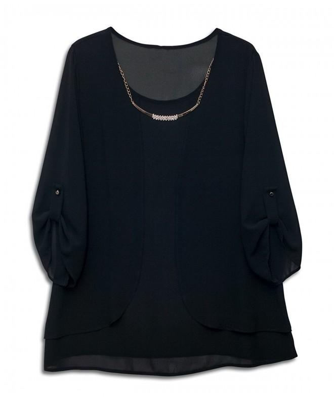 eVogues Layered Sleeve Chiffon Necklace