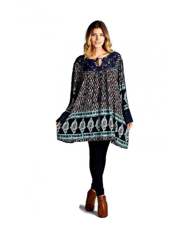 Velzera Floral Tassel Tunic Dress