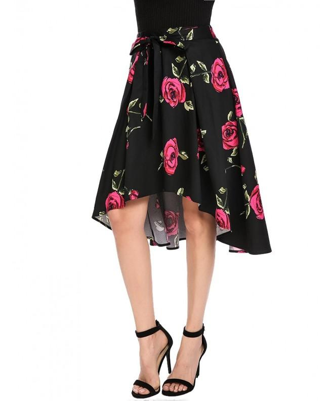 Zeagoo Womens Belted Floral X Large